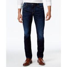 William Rast Men's Slim-Fit Straight-Leg Dean Dark Ash Jeans ($67) ❤ liked on Polyvore featuring men's fashion, men's clothing, men's jeans, blaze, mens slim fit jeans, mens slim cut jeans, mens straight leg jeans, mens dark denim jeans and mens slim jeans