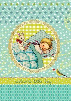 Roger la Borde | Baby Boy Greeting Card by Christina Kolsch