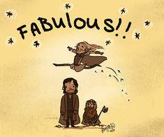 Legolas is FABULOUS. I feel bad for Aragorn and Gimli