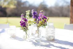 Pretty purple centerpieces, Joyful Details Event Planning