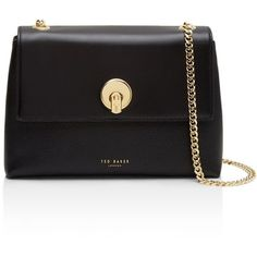 Ted Baker Mihai Circle Lock Leather Crossbody (900 ILS) ❤ liked on Polyvore featuring bags, handbags, shoulder bags, leather cross body handbags, leather man bags, hand bags, leather crossbody handbags and leather handbags