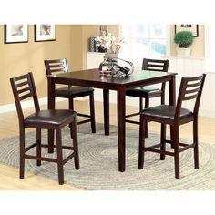 Furniture of America Amazi 5-Piece Counter Height Dining Set, Espresso | Overstock.com Shopping - Big Discounts on Furniture of America Dini...