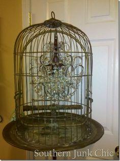 diy birdcage chandelier
