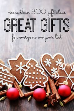 More than 300 gift ideas for everyone on your list!