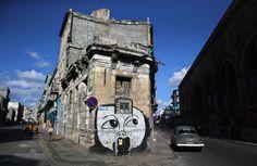 Murales de varios temas llenan las calles de Cuba.