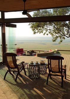 Angama Mara is a new safari lodge, balanced on the rim of Africa's Great Rift Valley, overlooking Kenya's Maasai Mara.