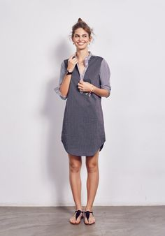 Pinstripe Shirt Dress from hush