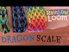 Rainbow Loom : Dragon Scale Cuff Bracelet - How To - YouTube Yes we're doing loom bands, too! I love the look of this one from SoCraftastic on YouTube!