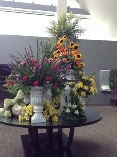 The entry flowers at the MidAmerica Center.