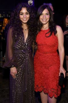 Vanessa Hudgens and America Ferrera attend the Entertainment Weekly & People Upfronts party in NYC.