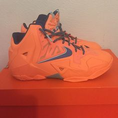 Nike Lebron 11 Worn a couple of times, good condition. Comfortable and stylish. This fits women size 8.5/9 Nike Shoes Sneakers
