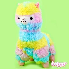 Alpacasso Rainbow Colored Plush - Medium - Plush Toys - Other Products   Blippo.com - Japan & Kawaii Shop