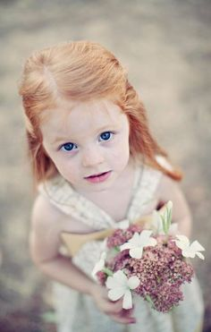 Little Miss flower-girl - sweet little face...