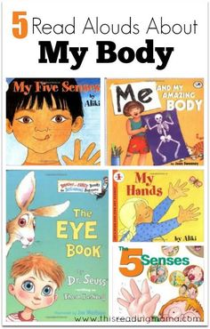 5 Read Alouds About My Body - This Reading Mama Body Preschool, Preschool Books, Preschool Kindergarten, Preschool Activities, Preschool Learning, Book Activities, All About Me Preschool Theme, All About Me Activities, My Five Senses