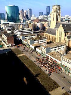 Rotterdam hoogstraat vanaf appartement markthal
