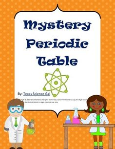mystery periodic table crossword puzzle type for the periodic table for middle and high school