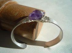Cuff bracelet Sterling silver cuff bracelet Gemstone by Iridonousa