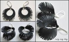 Crafty Lady Abby: JEWELRY TUTORIAL: Upcycled Bike Tube Earrings