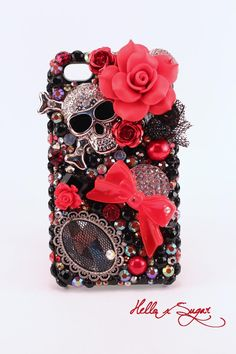 Vintage Halloween Memoirs - Decoden Iphone 4/4S Case - READY-to-SHIP. $55.00, via Etsy.