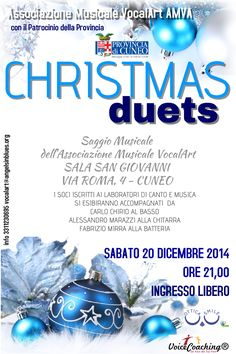 Christmas Duets Festa di Natale Musicale dell'Associazione Vocalart a Cuneo