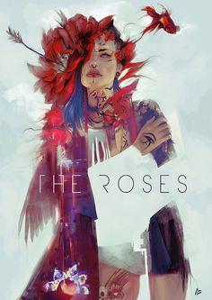 The Roses, Raquel Cornejo on ArtStation at https://www.artstation.com/artwork/28Rzg