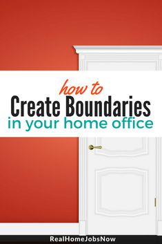 Creating boundaries for your work time and space is a necessity when you work from home. Here are a few tips to help you define your home office boundaries. Making Money On Ebay, Making Extra Cash, Earn Money Online, Online Jobs, Online Survey, Online Poker, Make Money Fast, Make Money From Home, Money Machine