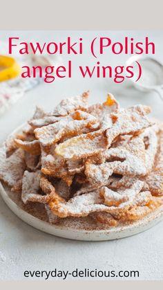 Chrusciki Recipe, East Dessert Recipes, Baking And Pastry, Polish Recipes, Mini Desserts, Sour Cream, Fries, Favorite Recipes, Treats