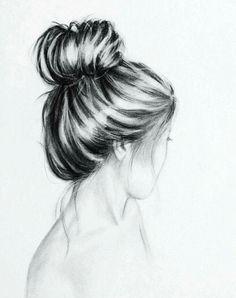 Hair pencil drawing