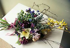 Spring arrangement from a very windy Derbyshire
