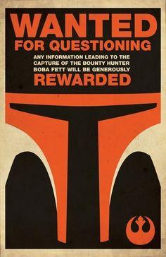 Star Wars Propaganda Poster #3. Boba, love it.