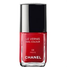 LE VERNIS NAIL COLOUR (08 PIRATE) Chanel at www.150worth.com #chanel #redlips