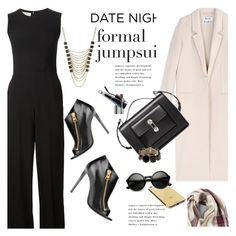 """Date Night: Jumpsuit Style"" by janephoto ❤ liked on Polyvore featuring STELLA McCARTNEY, Tom Ford, Lane Bryant, Acne Studios, Balenciaga, Goldgenie, Valentino, BP., Clinique and DateNight"