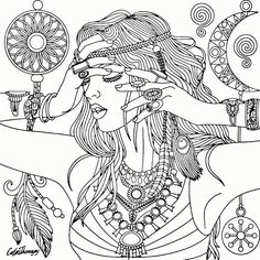 904 Best Beautiful Women Coloring Pages For Adults Images On