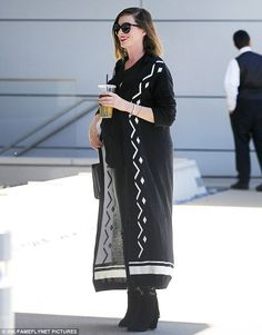 Happy:Anne Hathaway had that special glow on Wednesday as she stepped out with a friend for some tea in Beverly Hills