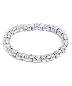 Look what I found on #zulily! Cubic Zirconia & White Gold Ball Stretch Bracelet #zulilyfinds