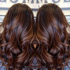 8 long brown hair with caramel balayage