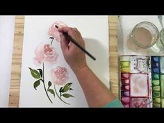 Peony Bouquet Watercolor Process Video - YouTube