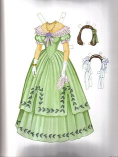 Las Recortables de Veva e Isabel: Godey´s Early Victorian Fashions