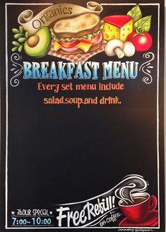Menu Board Design, Chalkboard Lettering, American Diner, Signwriting, Cafe Menu, Chalk Art, Food Design, Signage, Shops