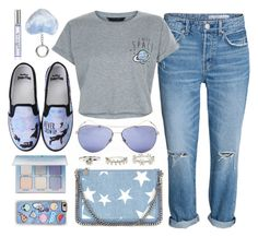 """Universe"" by monmondefou ❤ liked on Polyvore featuring Gucci, New Look, STELLA McCARTNEY, Disney, Anastasia Beverly Hills, Zero Gravity, Kate Spade, Dorothy Perkins and Blue"