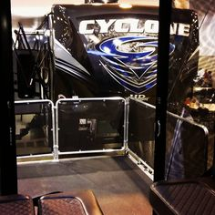 #Cyclone is waiting for you at the #HoustonRVShow with Lone Star RV and we heard AJ Jones, Toyhauler Division GM is flying in today!