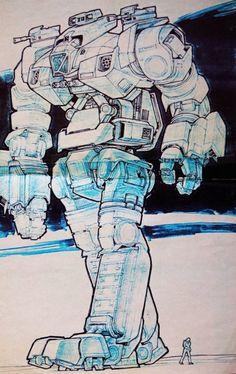 Ron Cobb - Robot Jox Concept Art