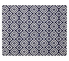 Beckett Rug - Navy | Pottery Barn Kids $229 made of recycled PET