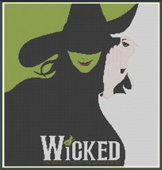 Wicked – The Musical – Counted Cross Stitch Pattern (X-Stitch PDF) on Etsy, $5.00