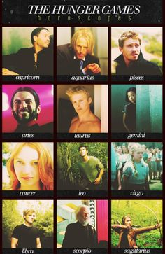 the hunger games zodiac - Google Search