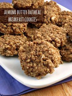 Almond Butter Oatmeal Breakfast Cookies - Alida's Kitchen #recipes #vegan #healthy #mybloom #spon