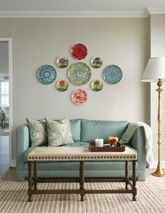Vibrant colors contrast nicely against a plain wall to create a bold statement!