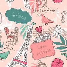 Caniche París Torre Eiffel tema Vinilo de pared calcomanías Araña De Paris Silueta