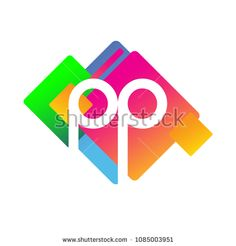 Letter PP logo with colorful geometric shape, letter combination logo design for creative industry, web, business and company. Web Business, Initials Logo, Creative Industries, Geometric Shapes, Royalty Free Stock Photos, Logo Design, Colorful, Lettering, Logos
