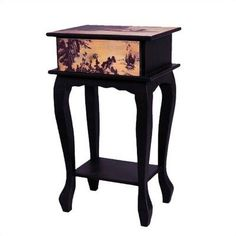 """Oriental Furniture Japanese Bedroom Furniture, 28-Inch Ladies On Water Single Drawer Bedside Nightstand End Table by ORIENTAL FURNITURE. $113.00. Browse our huge selection of japanese, chinese, asian décor, room dividers, art, lamps and gifts. Imported from fuzhou, china, distinctive fujian province style folk art decoration. 28"""" tall by 16.5"""" wide by 12.5"""" deep, fujian style wood nightstand/end table. Unique handcrafted wood end table/nightstand with top drawer, impo..."""